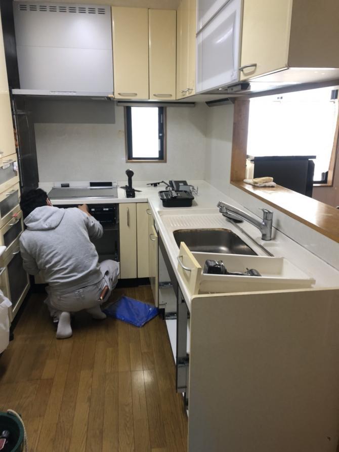 キッチン解体ビフォーアフター